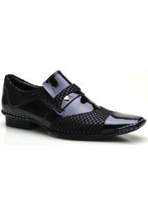 Sapato Social Masculino Calvest Elástico Lateral - Masculino-Preto
