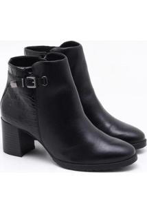 Ankle Boot Cravo & Canela - Feminino-Preto