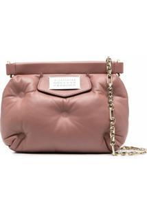 Maison Margiela Bolsa Transversal Glam Slam Mini - Rosa