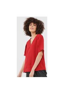 Blusa Bobstore Recorte Vermelha