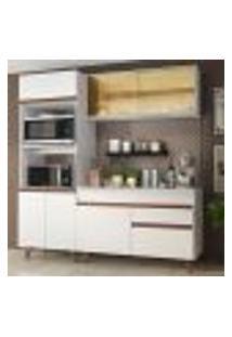 Cozinha Compacta Madesa Reims 190002 Com Armário E Balcão - Branco