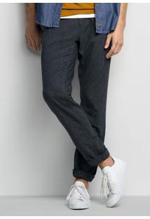 Calça Masculina Em Tecido Flanelado De Algodão