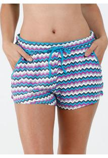 Pijama Feminino Short Avulso Estampa Zig Zag Marisa