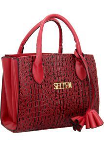 Bolsa Sanfonada Handbag Feminina Vermelha Selten