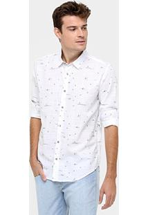Camisa Reserva Mini Print Photo - Masculino