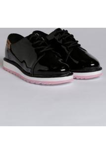 Sapato Oxford Molekinha Infantil Para Menina - Preto