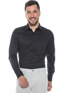 Camisa Raphy Clássica Quadriculada Preta - Masculino