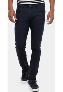 Calça Jeans Skinny Preston Black Elastano Masculina - Masculino