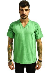 Camiseta Rich Young Gola V Básica Lisa Simples Verde