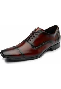 Sapato Social Em Couro Fandarello Caramelo