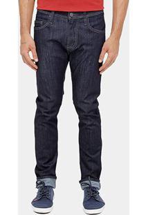 Calça Jeans Skinny Colcci Felipe Escura Pesponto Masculina - Masculino-Jeans