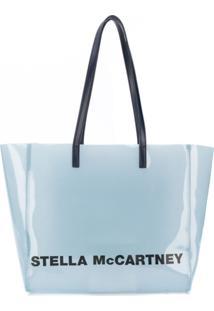 Stella Mccartney Bolsa Tote Com Logo - Azul
