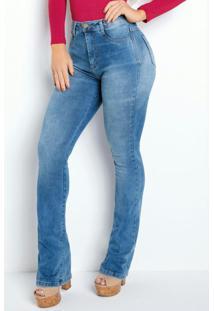 Calça Flare Jeans Clara Super Lipo Sawary