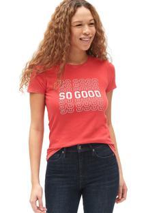 Camiseta Gap So Good Vermelha - Vermelho - Feminino - Dafiti