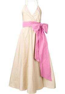 Nº21 Vestido Evasê Com Laço - Neutro