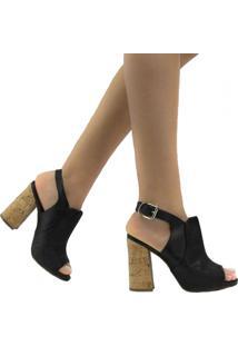 Sandália Zariff Shoes Casual Fivela Preto