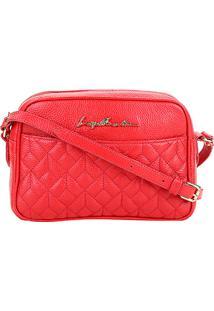 Bolsa Couro Luiza Barcelos Mini Bag Matelassê Feminina - Feminino-Vermelho Claro