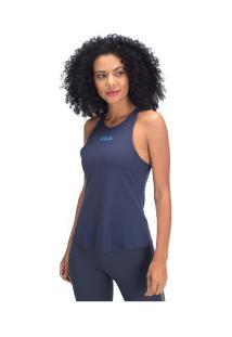 Camiseta Regata Fila Five Fit Marin - Feminina - Azul Escuro