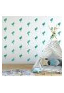 Adesivo Decorativo De Parede - Kit Com 40 Flamingos - 035Kaa17