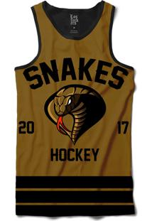... Regata Lf Hockey Snakes Sublimada Marrom c4cd8bd5a56