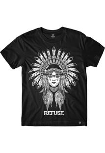 Camiseta Refuse Indian Princess - Preta