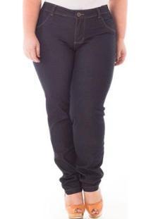 Calça Feminina Confidencial Extra Cigarrete Cintura Alta Com Elastano Plus Size - Feminino-Preto