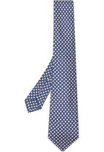 Kiton Gravata Com Padronagem Paisley - Azul
