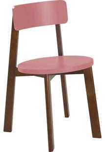 Cadeira Lina 75 Cm 941 Cacau/Rosa New - Maxima