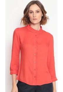 Blusa Com Babados- Vermelhamilagre