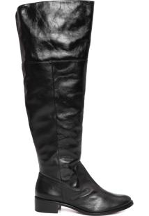 Bota Feminina Over Knee - Preto