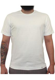 Camiseta Clássica Masculina Lisa Off White