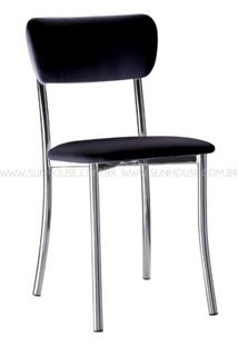 Cadeira Estofada Korino Preta - 17608 - Sun House