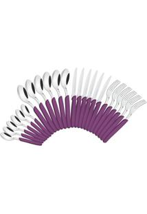 Jogo Talheres Inox 24 Peças Carmel Purpura Escuro Tramontina - 23499/030