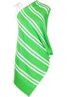 Mm6 Maison Margiela Blusa De Tricô Com Listras - Verde