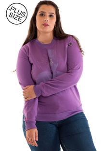 Blusão Moletom Konciny Plus Size Roxo