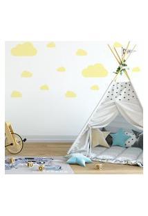 Adesivo De Parede Nuvens Amarelas Para Quarto Infantil