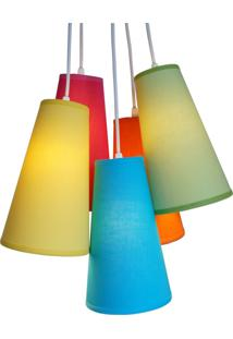 Lustre Pendente Cacho Colors Crie Casa 5 Cúpulas Multicolorido