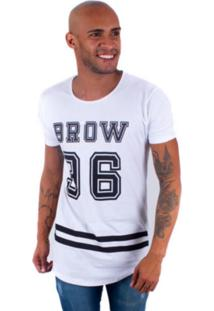 Camisa Rockstar Long Brow Branca