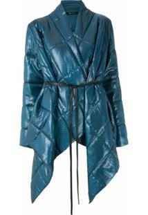 Uma | Raquel Davidowicz Jaqueta Dumbo Matelassê Oversized - Azul