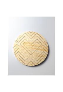 Amaro Feminino Design Up Living Descanso De Panela Marfim 12X20X20, Labirinto
