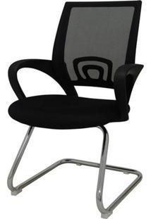 Cadeira Office Santiago Fixa Em Nylon Preto - 27697 - Sun House
