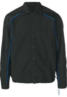 Unravel Project Drawstring Button Down Shirt - Preto