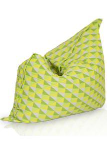 Puff Almofadão Acquablock Geométrico 004 Stay Puff Verde