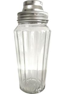 Coqueteleira Fines Glass- Incolor & Prateada- 27X8,8Urban