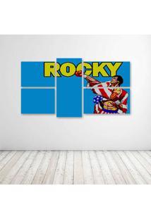 Quadro Decorativo - Rocky Film - Composto De 5 Quadros
