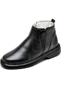 Bota Conforto Top Franca Shoes Social Masculino - Masculino-Preto