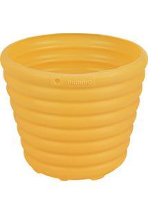 Cachepô Vaso Para Flores Amarelo 1,7L
