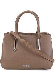 Bolsa Santa Lolla Handbag Risco Feminina - Feminino-Cinza