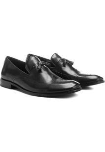 Sapato Social Walkabout Couro Com Barbicacho - Masculino-Preto