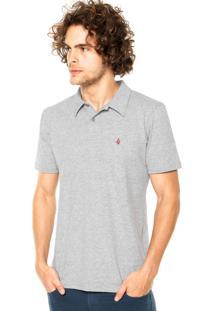 Camisa Polo Volcom Basic Cinza